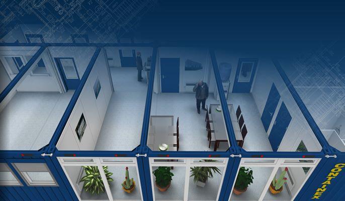 Contentores de aluguer - Conjunto de contentores 3D Renderring