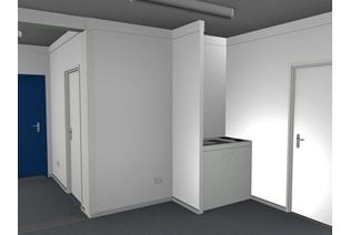 Contentores-escritório Interior