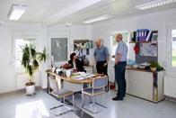 Interior de contentor-escritório, Klagenfurt, Áustria