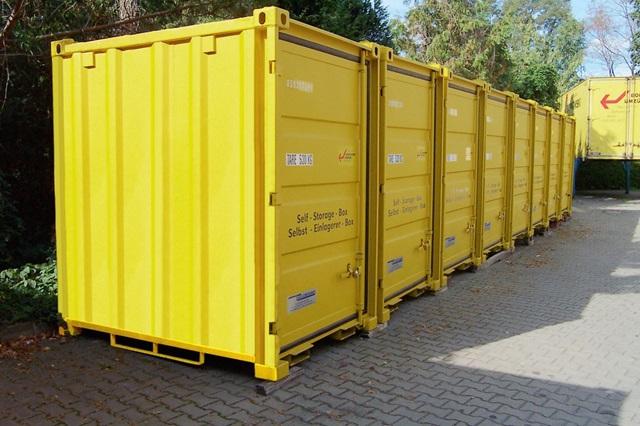 Mover-boxes como salas de armazenamento próprio