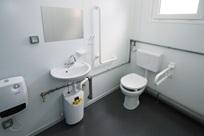 WC adaptado a pessoas com deficiência