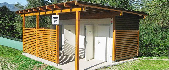 Cabines WC instalação de contentores