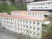 Escritório de obra numa central de bombagem em Nant de Drance