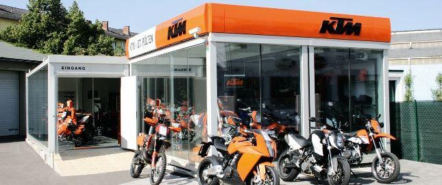Espaço de vendas da KTM