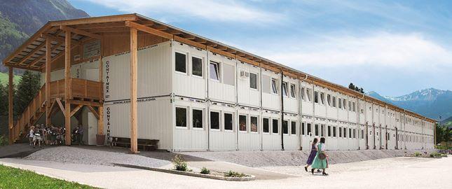 Instalação de contentores, Exemplo - Escola