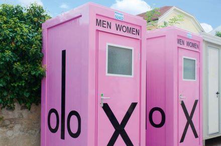 Boxes WC com publicidade do cliente