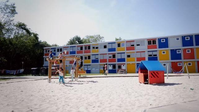 Projeto de alojamento para requerentes de asilo em Berlim