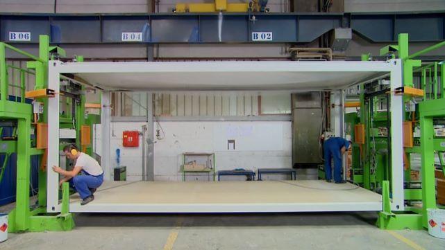 Produção de contentores-escritório - de acordo com os padrões técnicos mais atuais