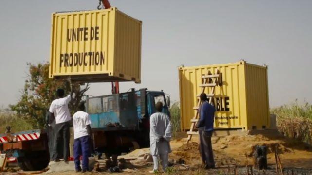 Estação de tratamento de água em África