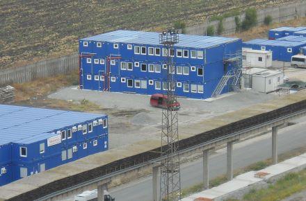 CONTAINEX - Baubüro Raffinerie LUKOIL Neftochim Burgas, Bulgarien