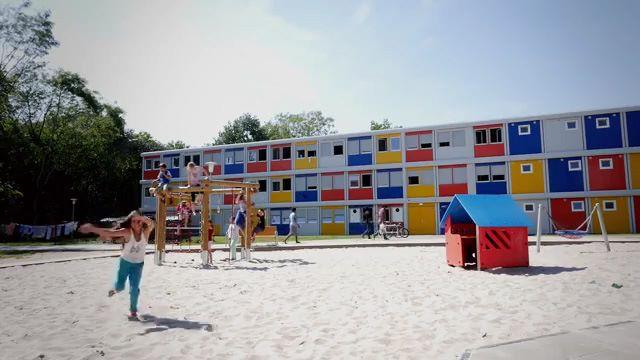 Projeto da CONTAINEX de alojamento para requerentes de asilo em Berlim