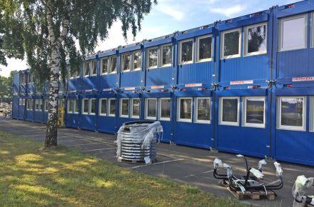 Escritórios de uma fábrica de veículos em Wertle, Alemanha