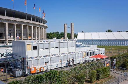 Sistema de contentores modulares para o Campeonato Europeu de Atletismo, Berlim, Alemanha