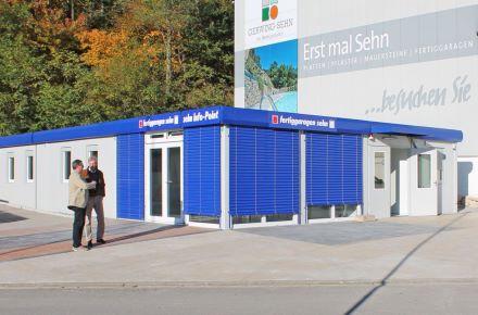 Espaço de vendas para garagens prontas, Sankt Ingberg, Alemanha