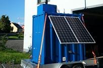 Videovigilância móvel num contentor-armazém, Weinsheim, Alemanha