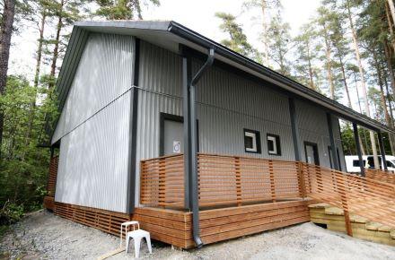 Sistema sanitário para o parque de campismo em Turku, Finlândia