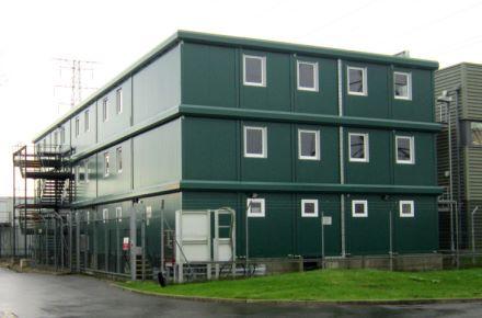 Escritório de obra da central elétrica, Newport, Grã-Bretanha