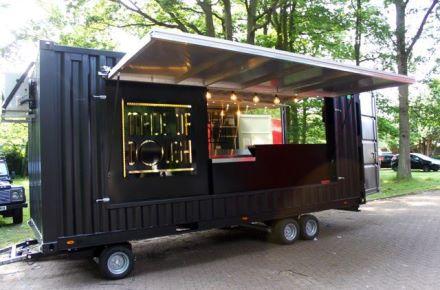Food Truck a partir de um contentor-armazém em Colchester, Grã-Bretanha