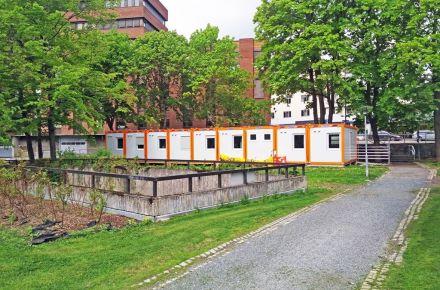 Escritório temporário para o município, Gjovik - Noruega