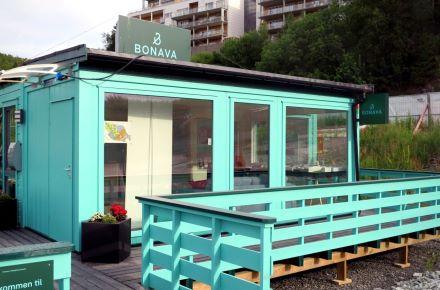 Loja de exposições para um projeto de construção habitacional, Bergen - Noruega