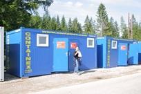 Contentores-sanitários - campo de jovens, Mariazell, Áustria