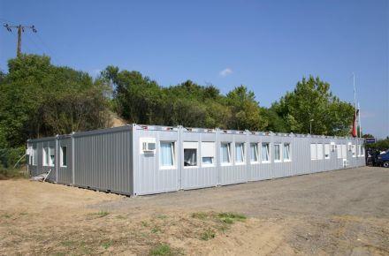 CONTAINEX - Estrutura de contentores-escritório num posto de inspecção da polícia de fronteira, AT-Dürnkrut
