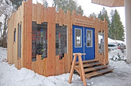 Loja de aluguer de esquis de cerca de 30 m², Leogang, Áustria