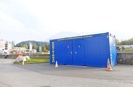 Contentores-WC em autoestrada, autoestrada A1 na Áustria