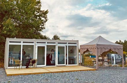 Centro de visitantes para projeto de habitação, Sundbyberg, Suécia