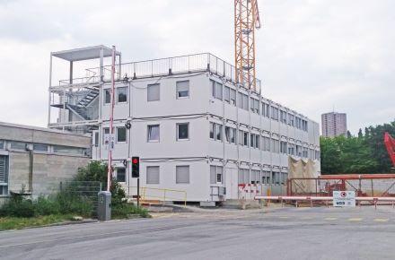Escritório de obra para central elétrica em Lausanne, Suíça